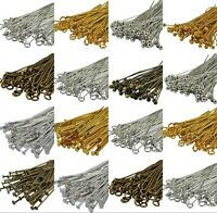 100PCS Bronze, Gold&SILVER PLATED Metal Ball Head Eye Pins 20/30/40/50/60/70mm