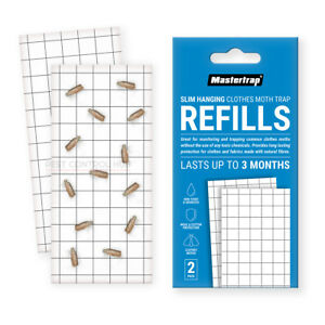 Moth Trap Pheromone Glue Refill Pads for Mastertrap Clothes Moths Traps 2 Pack