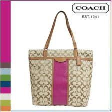 Coach F31904 Cherry Signature Snake Print Large Tote Shoulder Bag