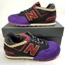 New Mens Size 9.5 New Balance 574 Shoe Black Purple BHM My Story Matters