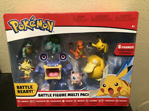 Pokemon Battle Figure Multi Pack 8 figures 2019 New Sealed in Box 97769 Pikachu