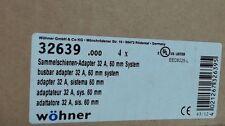 NIB qty 4 Wohner 32A easy connector busbar adapter 32639 / EEC6025-L - Warranty
