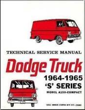 Factory Shop Service Manual for 1964-1965 Dodge A100 Truck & Van