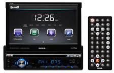 "SSL SD726MB Single-Din 7"" In-Dash DVD Monitor Receiver w/Bluetooth USB/SD/AUX"