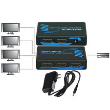 4way Active HDMI Y Splitter/Amplifier Cable/Cord Adapter HDTV/Plasma/TV/DVR/DVD