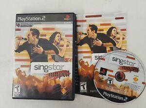 SingStar Amped (Playstation PS2) Black Label Original Complete Excellent!