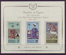 Briefmarken aus Zypern mit Pfadfinder-Motiv