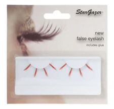 Stargazer False Feather Eyelashes #41 Red and Light Blue UV Glow