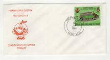République du Congo 1 timbre sur lettre FDC 1980 tampon Brazzaville /BCag14