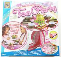 Tee Party Set NEU Spielset pink grün Bastel-Set kinder 5J+ pappe metall tea