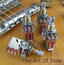 4 Bourns Pro 1 Meg Audio Taper Push//Pull Pots w// DPDT Switch for Guitar /& Bass
