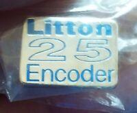 Litton Encoder lapel pin pre-owned