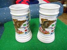 Set of 2 SCHEDEL Bavaria BEER Mugs GERMAN-AMERICAN WANDER CLUB............SALE