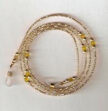 "Eyeglass Chain Handmade Champagne Gold~Neck Cord~NEW~28"" Buy 3 SHIP FREE"