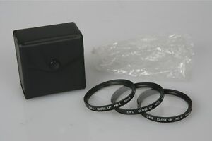 49mm CPC Close Up Filter Set Complete In Case No 1 No 2 No 4 Made In Japan