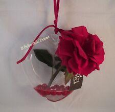 SIA Home fashion CUORE trasparente con ROSA rossa in acqua magica con bacche