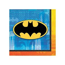 "16 DC Batman Comic Birthday Party 5"" Paper Beverage Napkins"