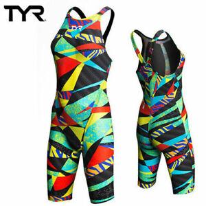 TYE Woman's US 28 Avictor Prelude Closed Back Swim Suit Black/Multi CLBCK