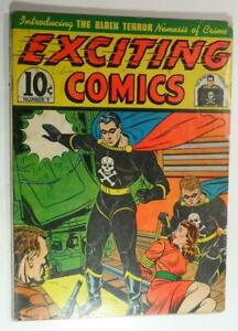 EXCITING COMICS #9 NEDOR MAY 1941 ORIGIN FIRST APP BLACK TERROR AND TIM INCOMPLT