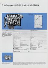MERCEDES 2635 (6x4) carrello Branda foglio dati dati tecnici 1988 prospetto CAMION
