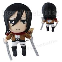 "Attack on Titan Mikasa Ackerman 30cm / 12"" Soft Plush Stuffed Toy Doll"