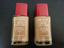 Revlon Age Defying Liquid Makeup / Foundation - HONEY BEIGE #11 - DRY -2 Bottles