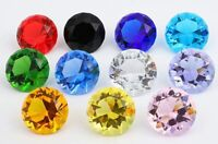 60mm/2.5'' Home Office Decor Wedding Decoration Glass Diamond Shaped Paperweight