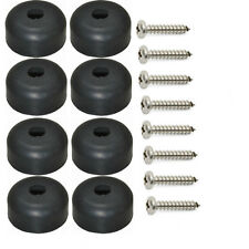 "Set of 8 Amp/Cabinet Rubber Feet 1"" X 1/2"" + screws & metal washers built-in"