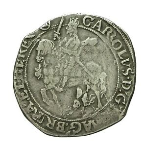 Charles i hammered silver Halfcrown  mm Triangle in Circle  S2779 Chisto Error
