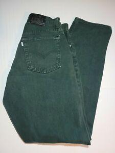 VTG Levi's SilverTab Loose Fit Green Women's Jeans Size 9 JR M USA!