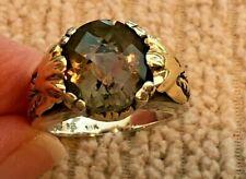 Silver 925 Smokey Quartz Ring Samuel Benham Bjc 18k/750 Gold and