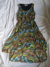 Joy Joy Multi Colored Hi Low Tank Dress size S