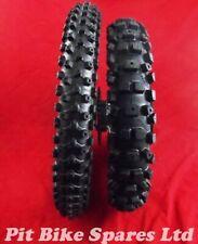 "Pit Bike Big Wheels & Tyres. Black 17"" Fr 14"" Rear 15mm Steel. Discs & Sprocket"