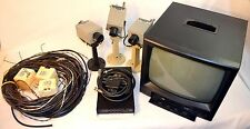 VIDEO SURVEILLANCE SYSTEM - 3 JVC CAMERAS, VIDEO SWITCHER, MONITOR AND CABLES
