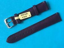 Vegi Kalb Uhrband Farbe Aubergine  18mm pflanzlich gegerbt Lederband Ersatzband