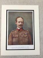 1900 Antico Militare Stampa Ritratto Generale Ian Hamilton The Gallipoli Guerra
