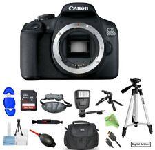 *USA SELLER!* Canon EOS Rebel T7/2000D DSLR Camera 32GB Flash Tripod Bundle