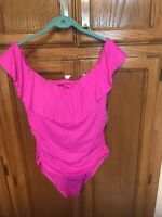 la blanca one piece swimsuit 14 Off Shoulder New Pink Swimsuit