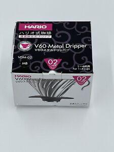 Hario V60 Metal Dripper 1-4 Cups Matt Black VDM-02