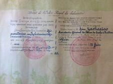 Brevet de l'Ordre Royal du SAHAMÉTREI - CAMBODGE - Indochine - Années 50