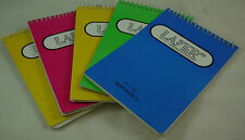 NOTE BOOKS, PACK OF 5 ASSORTED COLOURS, 15 X 10CM, 80 PAGES, P25A