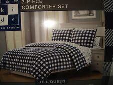 Max Studio 7-piece FULL/QUEEN Comforter Set - DINOSAUR - CHECKS/BLOCKS