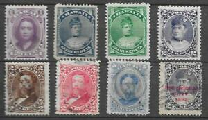 USA Hawaii very nice lot of 8 old stamps including better see scans