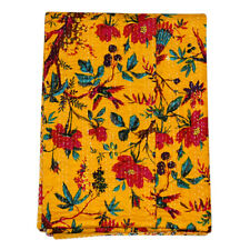 Indian Kantha Handmade Quilt Cotton Bedspreads Bedding Twin Blanket Gudari Throw