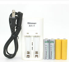2pcs Etinesan 3.2v 600mAh LiFePo4 lithium rechargeable battery W/ dummy+CHARGER
