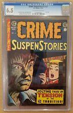 Crime Suspenstories #27 CGC 6.5 OW/W EC Pre Code Horror Last Issue FN+