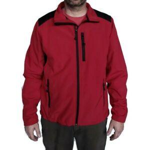 BLACK DIAMOND fleece lined full zip mock neck soft shell jacket red black Sz XL