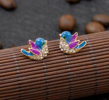 Alloy Rhinestone Enamel Bird Drop Earring New Betsey Johnson Fashion Woman Rare