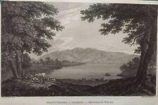 1816 Antique Print;  Derwentwater & Skiddaw, Cumbria after Joseph Farington