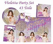 DISNEY VIOLETTA Set de fête fête SET 43 pièces anniversaire d'enfant + surprise